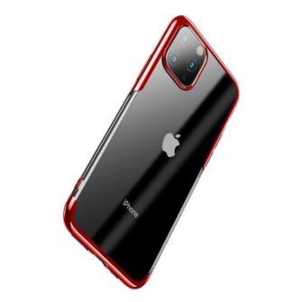 iPhone 11 Pro Max laikivate servadega silikoonist umbris Baseus Shining punane 2