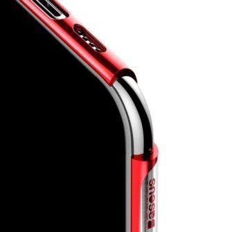 iPhone 11 Pro Max laikivate servadega silikoonist umbris Baseus Shining punane 4