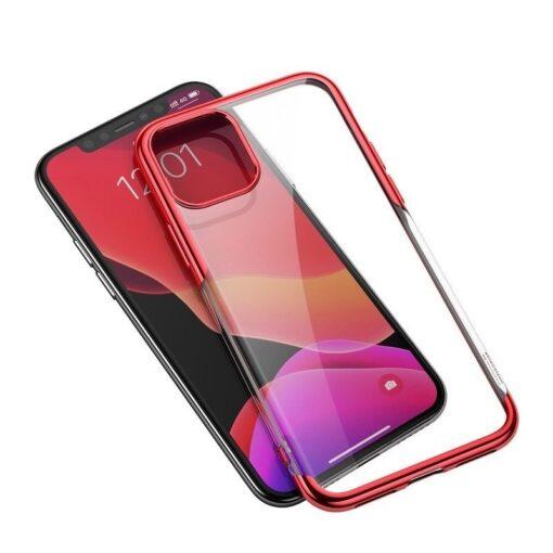 iPhone 11 Pro Max laikivate servadega silikoonist umbris Baseus Shining punane