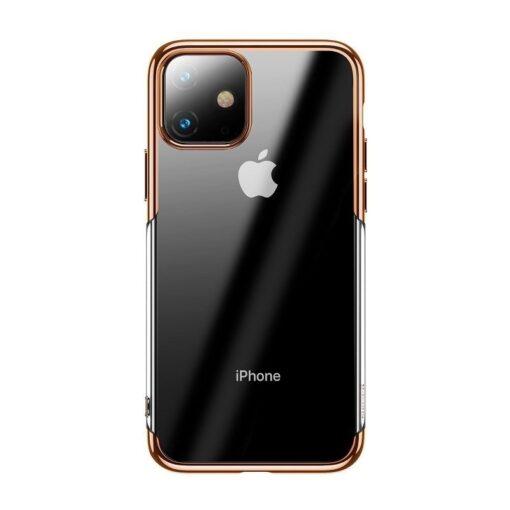 iPhone 11 laikivate servadega silikoonist umbris Baseus Shining kuldne 1