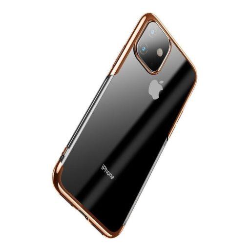 iPhone 11 laikivate servadega silikoonist umbris Baseus Shining kuldne 2