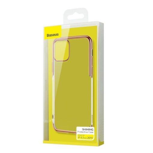 iPhone 11 laikivate servadega silikoonist umbris Baseus Shining kuldne 5