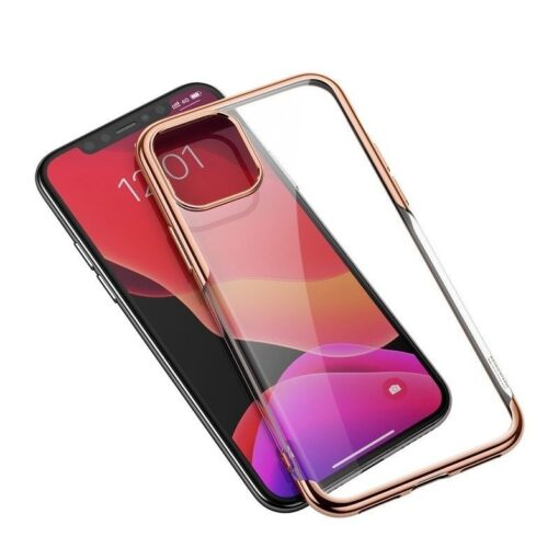 iPhone 11 laikivate servadega silikoonist umbris Baseus Shining kuldne