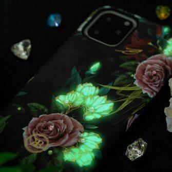 iPhone 11 umbris Kingxbar Forest Seeria Swarowski pimedas helendav feather 1