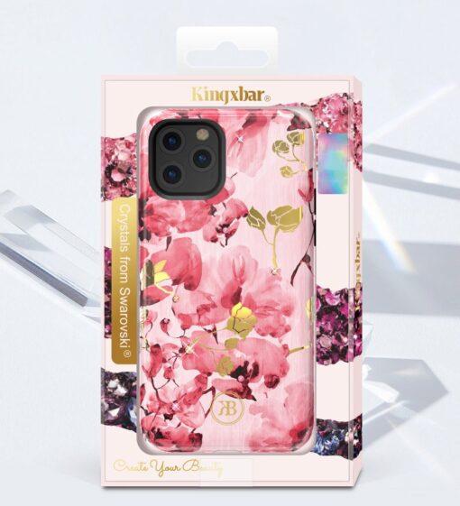 iPhone 11 umbris Kingxbar Forest Seeria Swarowski pimedas helendav feather 3