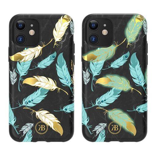 iPhone 11 umbris Kingxbar Forest Seeria Swarowski pimedas helendav feather