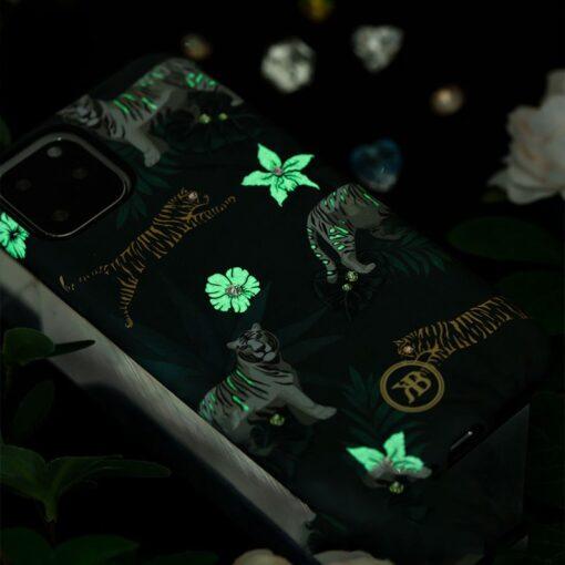iPhone 11 umbris Kingxbar Forest Seeria Swarowski pimedas helendav feather 6