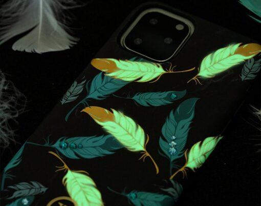iPhone 11 umbris Kingxbar Forest Seeria Swarowski pimedas helendav feather 8