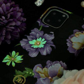 iPhone 11 umbris Kingxbar Forest Seeria Swarowski pimedas helendav leaf 10