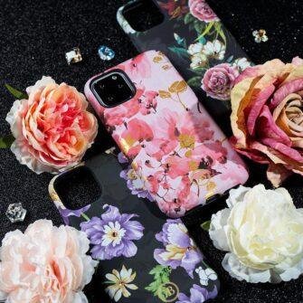 iPhone 11 umbris Kingxbar Forest Seeria Swarowski pimedas helendav leaf 12