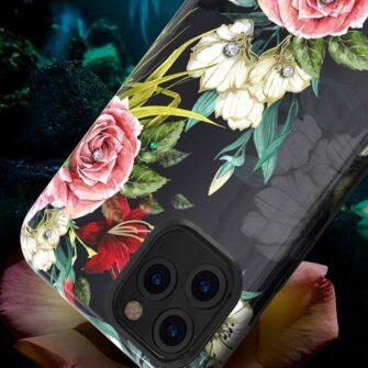 iPhone 11 umbris Kingxbar Forest Seeria Swarowski pimedas helendav leaf 5