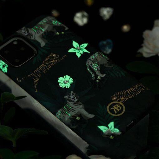 iPhone 11 umbris Kingxbar Forest Seeria Swarowski pimedas helendav leaf 6