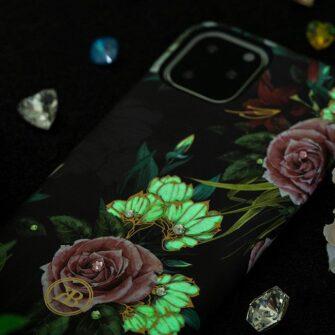 iPhone 11 umbris Kingxbar Forest Seeria Swarowski pimedas helendav lilla 11