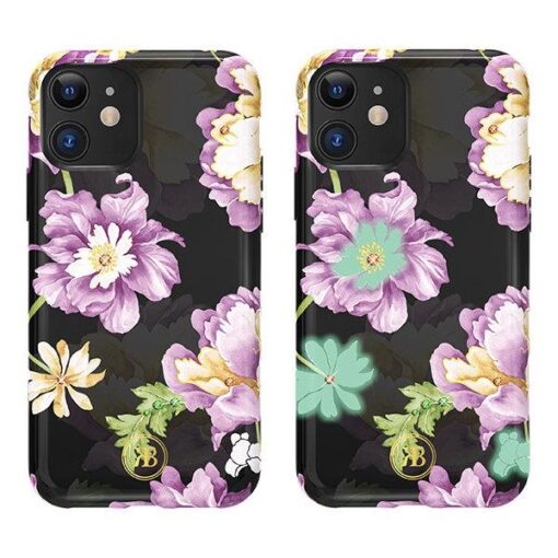 iPhone 11 umbris Kingxbar Forest Seeria Swarowski pimedas helendav lilla