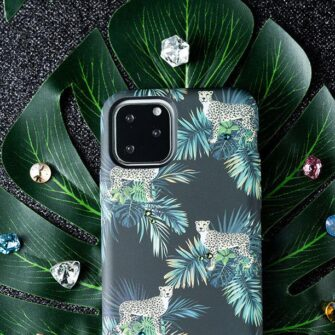 iPhone 11 umbris Kingxbar Forest Seeria Swarowski pimedas helendav lilla 7