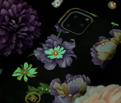 iPhone 11 umbris Kingxbar Forest Seeria Swarowski pimedas helendav roosa 10