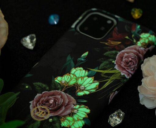 iPhone 11 umbris Kingxbar Forest Seeria Swarowski pimedas helendav roosa 11