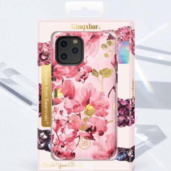 iPhone 11 umbris Kingxbar Forest Seeria Swarowski pimedas helendav roosa 3