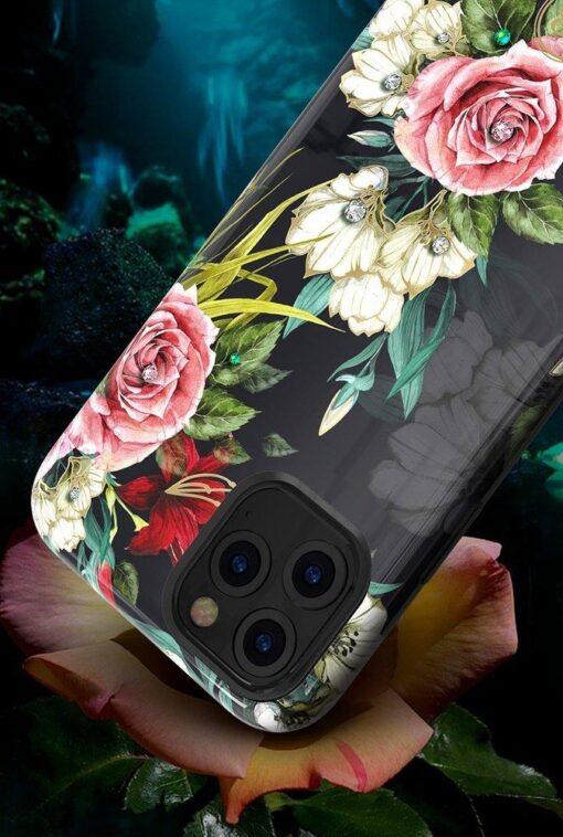 iPhone 11 umbris Kingxbar Forest Seeria Swarowski pimedas helendav roosa 5