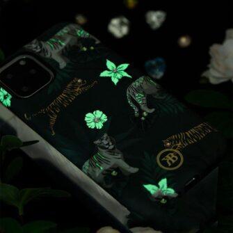 iPhone 11 umbris Kingxbar Forest Seeria Swarowski pimedas helendav roosa 6