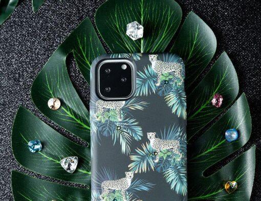 iPhone 11 umbris Kingxbar Forest Seeria Swarowski pimedas helendav roosa 7