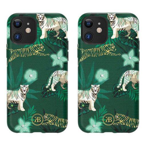 iPhone 11 umbris Kingxbar Forest Seeria Swarowski pimedas helendav tiger