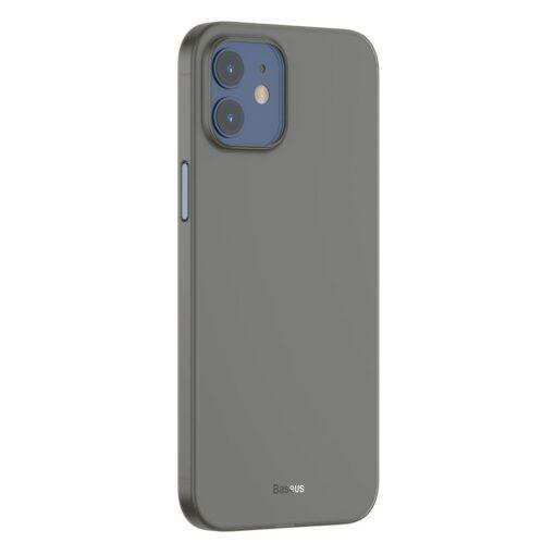 iPhone 12 12 Pro Baseus Wing Case Ultrathin plastikust umbris must 1