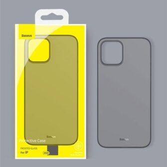 iPhone 12 12 Pro Baseus Wing Case Ultrathin plastikust umbris must 10