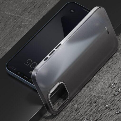 iPhone 12 12 Pro Baseus Wing Case Ultrathin plastikust umbris must 4