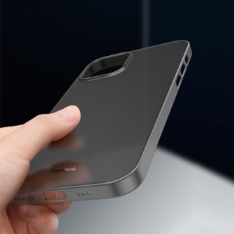 iPhone 12 12 Pro Baseus Wing Case Ultrathin plastikust umbris must 5