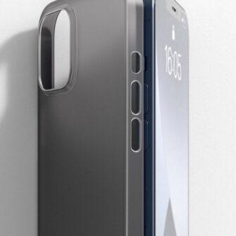 iPhone 12 12 Pro Baseus Wing Case Ultrathin plastikust umbris must 9