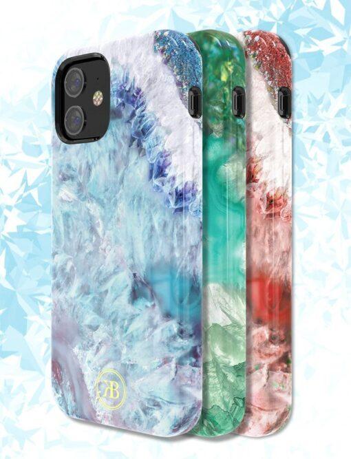 iPhone 12 12 Pro Kingxbar Agater umbris roheline 3