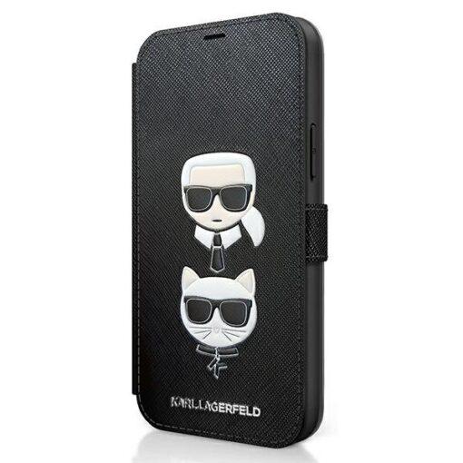 iPhone 12 12 Pro kaaned Karl Lagerfeld KLFLBKP12MSAKICKCBK