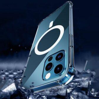 iPhone 12 12 Pro silikoonist MagSafe tugevdatud nurkadega kaaned labipaistev 13