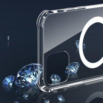 iPhone 12 12 Pro silikoonist MagSafe tugevdatud nurkadega kaaned labipaistev 18