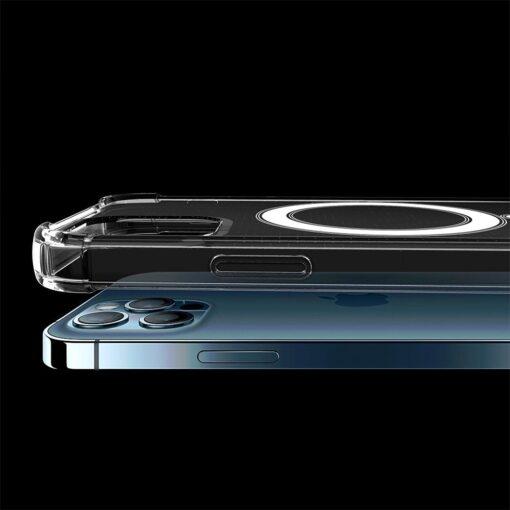iPhone 12 12 Pro silikoonist MagSafe tugevdatud nurkadega kaaned labipaistev 4