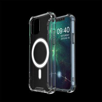 iPhone 12 12 Pro silikoonist MagSafe tugevdatud nurkadega kaaned labipaistev 5