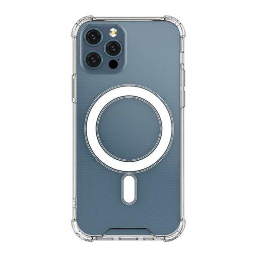 iPhone 12 12 Pro silikoonist MagSafe tugevdatud nurkadega kaaned labipaistev