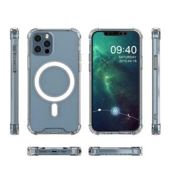 iPhone 12 12 Pro silikoonist MagSafe tugevdatud nurkadega kaaned labipaistev 6