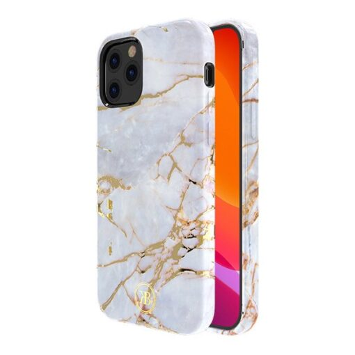 iPhone 12 12 Pro umbris Kingxbar Marble Seeria helesinine 1