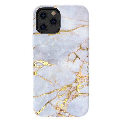 iPhone 12 12 Pro umbris Kingxbar Marble Seeria helesinine