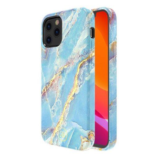 iPhone 12 12 Pro umbris Kingxbar Marble Seeria sinine 1