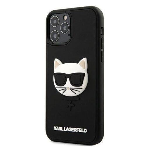 iPhone 12 12 Pro umbris silikoonist Karl Lagerfeld KLHCP12MCH3DBK 1