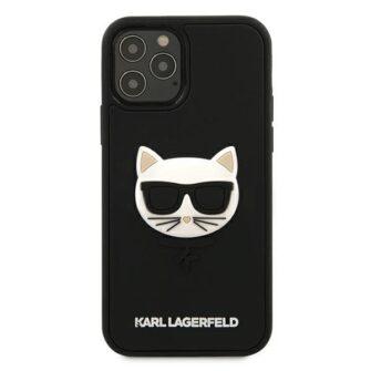 iPhone 12 12 Pro umbris silikoonist Karl Lagerfeld KLHCP12MCH3DBK 2