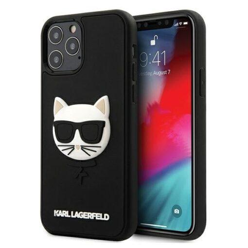 iPhone 12 12 Pro umbris silikoonist Karl Lagerfeld KLHCP12MCH3DBK