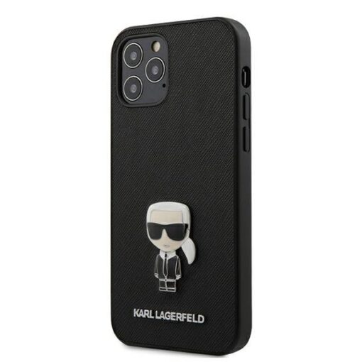 iPhone 12 12 Pro umbris silikoonist Karl Lagerfeld KLHCP12MIKMSBK