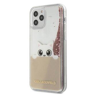 iPhone 12 12 Pro umbris silikoonist Karl Lagerfeld KLHCP12MPABGNU 1