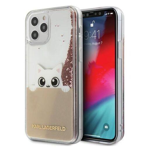 iPhone 12 12 Pro umbris silikoonist Karl Lagerfeld KLHCP12MPABGNU