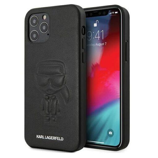 iPhone 12 12 Pro umbris silikoonist Karl Lagerfeld KLHCP12MPCUIKBK