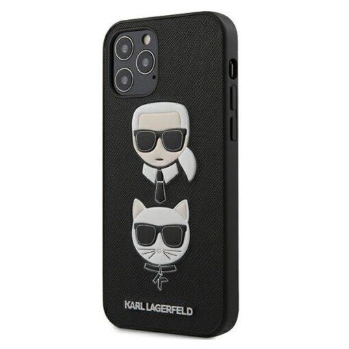 iPhone 12 12 Pro umbris silikoonist Karl Lagerfeld KLHCP12MSAKICKCBK